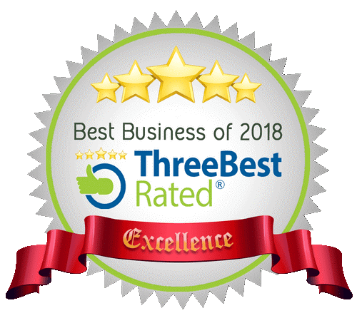 Best Business of 2018. Three Best rated excellence.