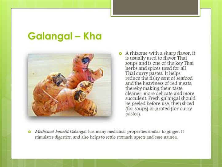 galangal ingredient