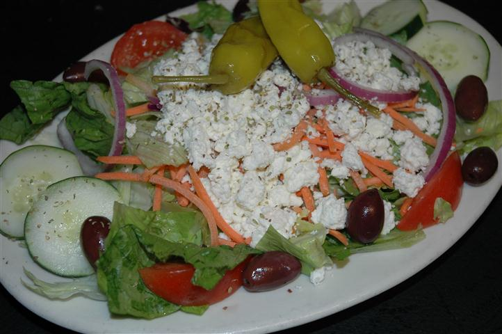 Salad with feta cheese and peppers