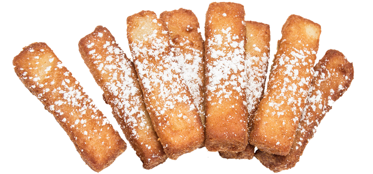 french toast sitcks with powdered sugar