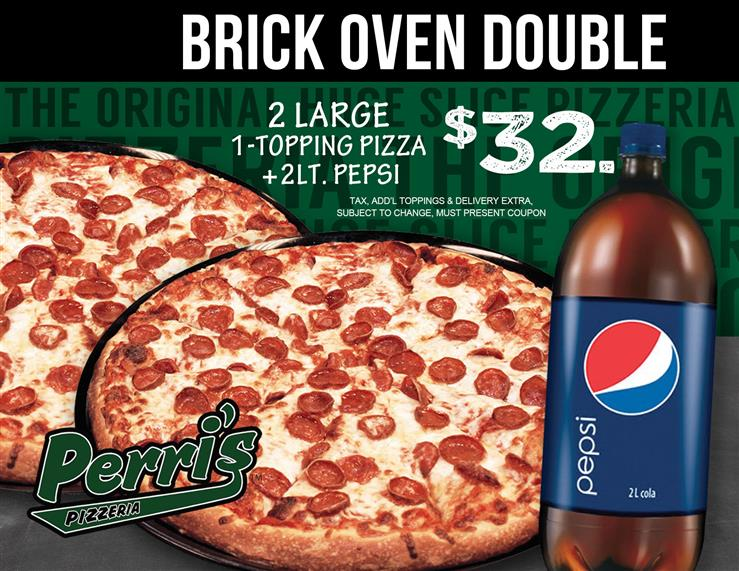 Brick Oven Double Pizza Wings Pepsi