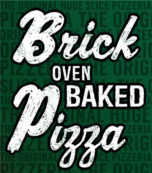 Brick oven baked pizza