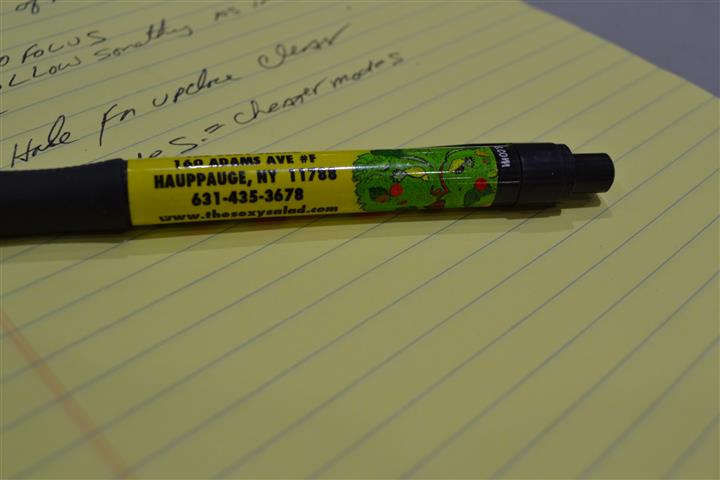 The sexy salad branded pen