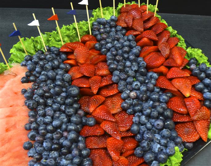 Strawberry and blueberry arrangement