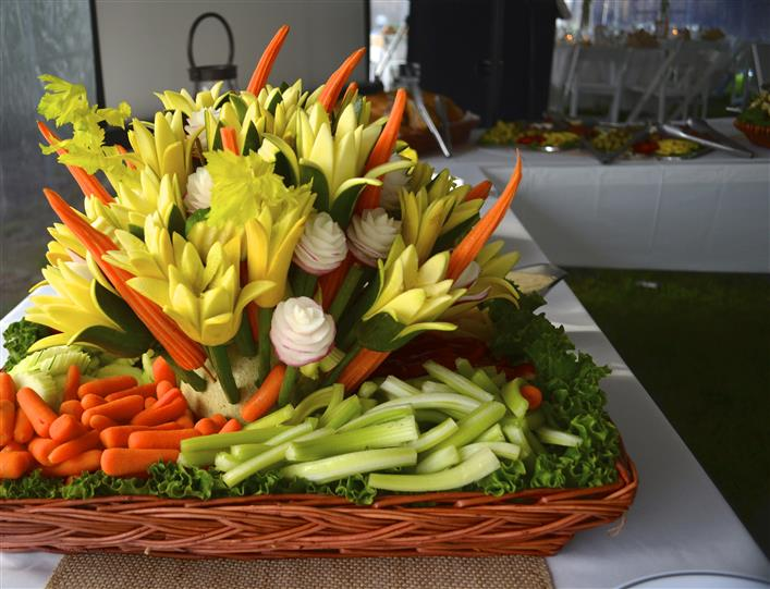 Vegetable arrangements