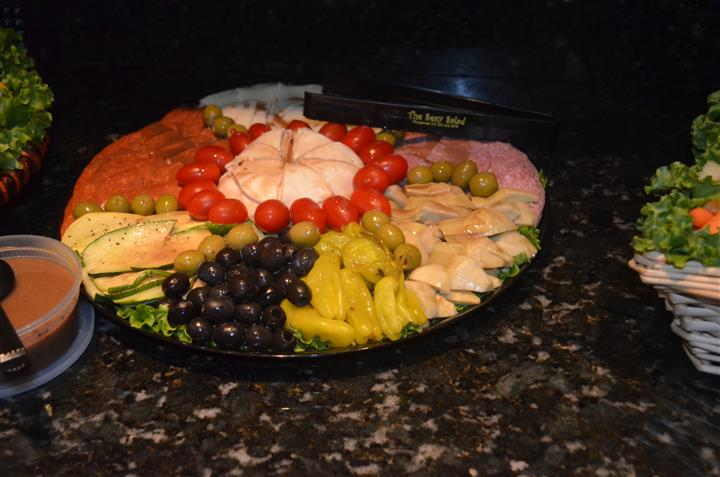 Meat, cheese, and vegetable platter