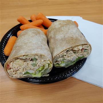 Sexy Cajun Chicken Salad Wrap