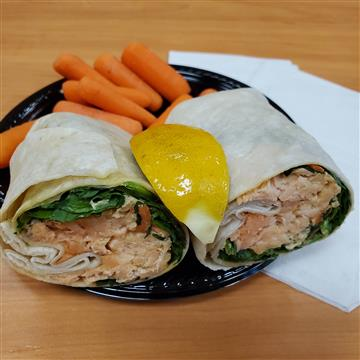 Sexy Thai Salmon Wrap