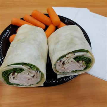 Turkey, Spinach and Swiss Wrap