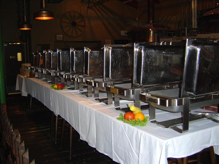 Catering sternos on table