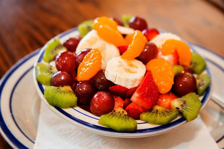 Fruit bowl with a mix of colorful fruits