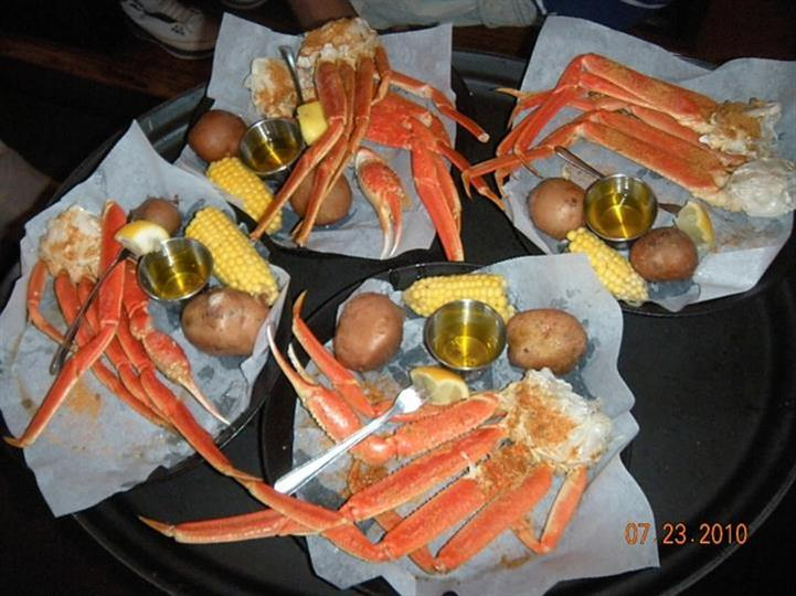 baskets of crab legs