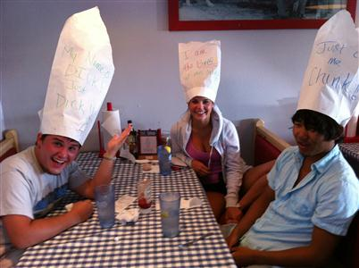 So they thought they were at Dick's Last Resort....They had a great time with us