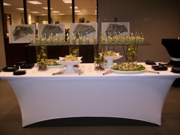 A white decorated buffet