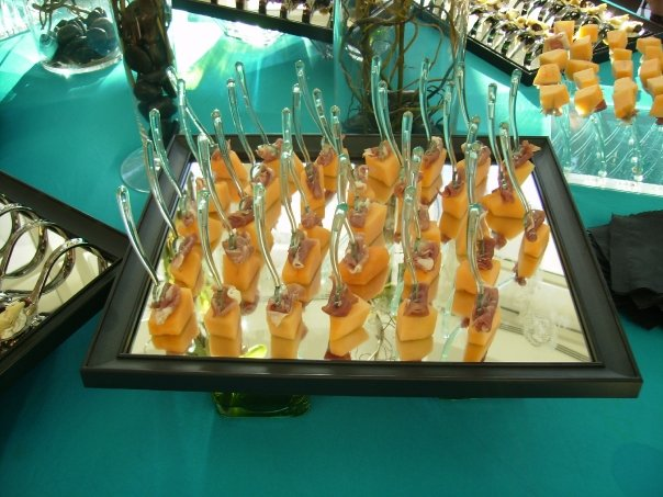Appetizers served on forks
