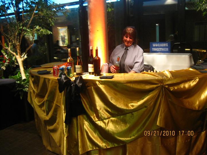 Photo of the server at the wine buffet