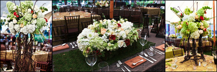 A large table bouquet with several flowers