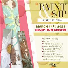 spring Sip and paint