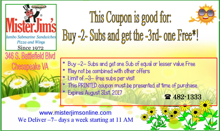 Mr jim's coupon code