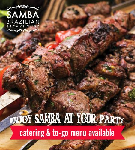 Enjoy Samba at your party.  Catering and to-go menu available