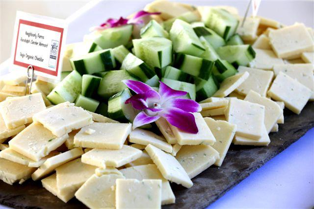 cheese ans cucumbers on a plate