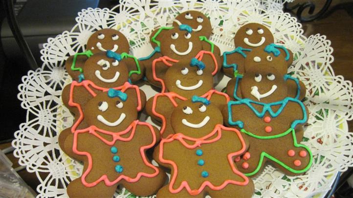 assortment of ginger bread-men