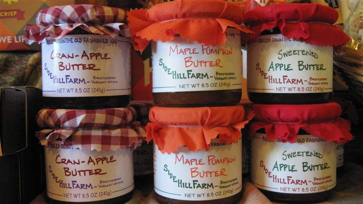 maple pumpkin butter and apple butter
