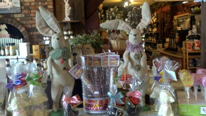 display of Easter bunny