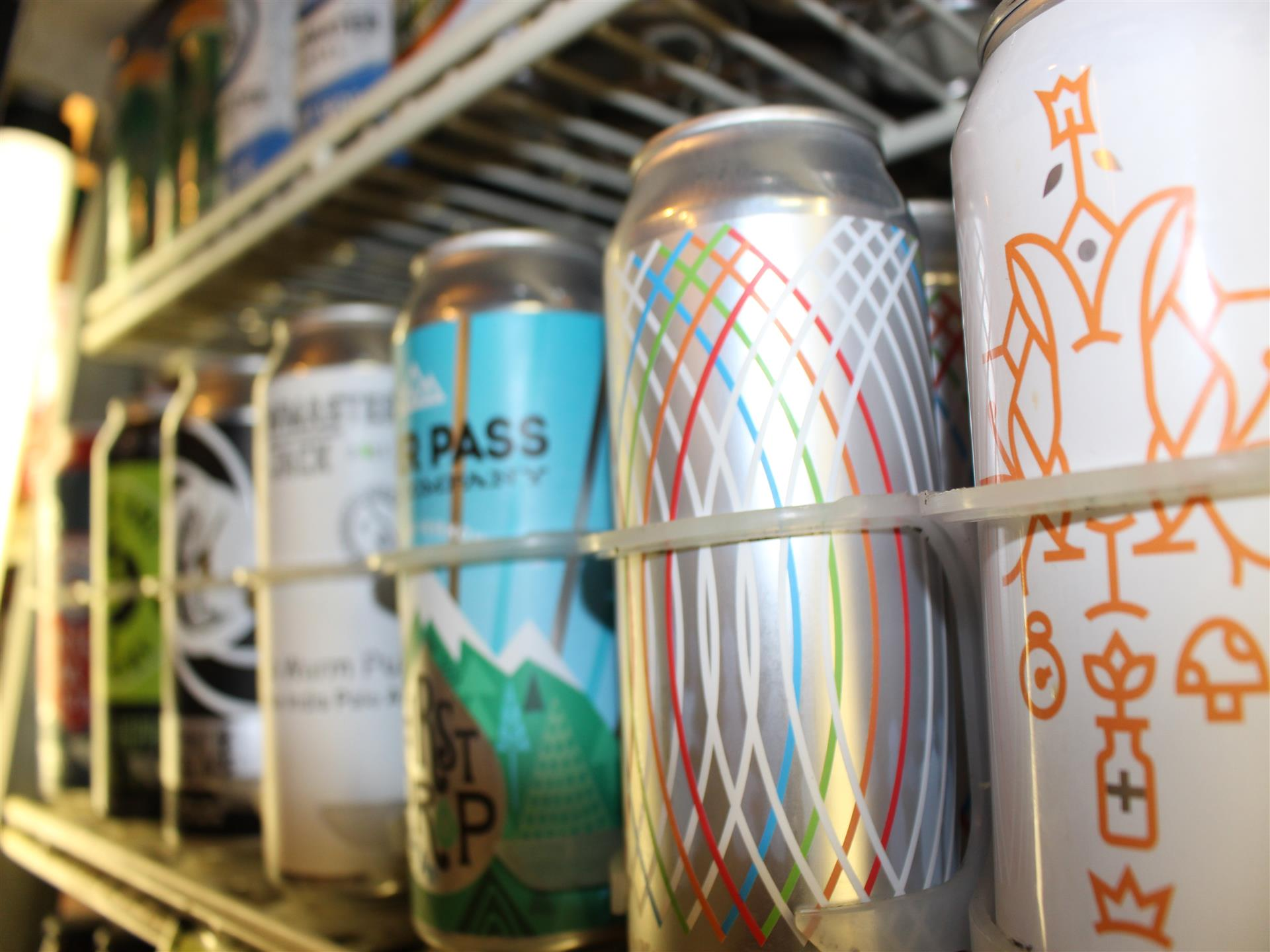cans of various beer