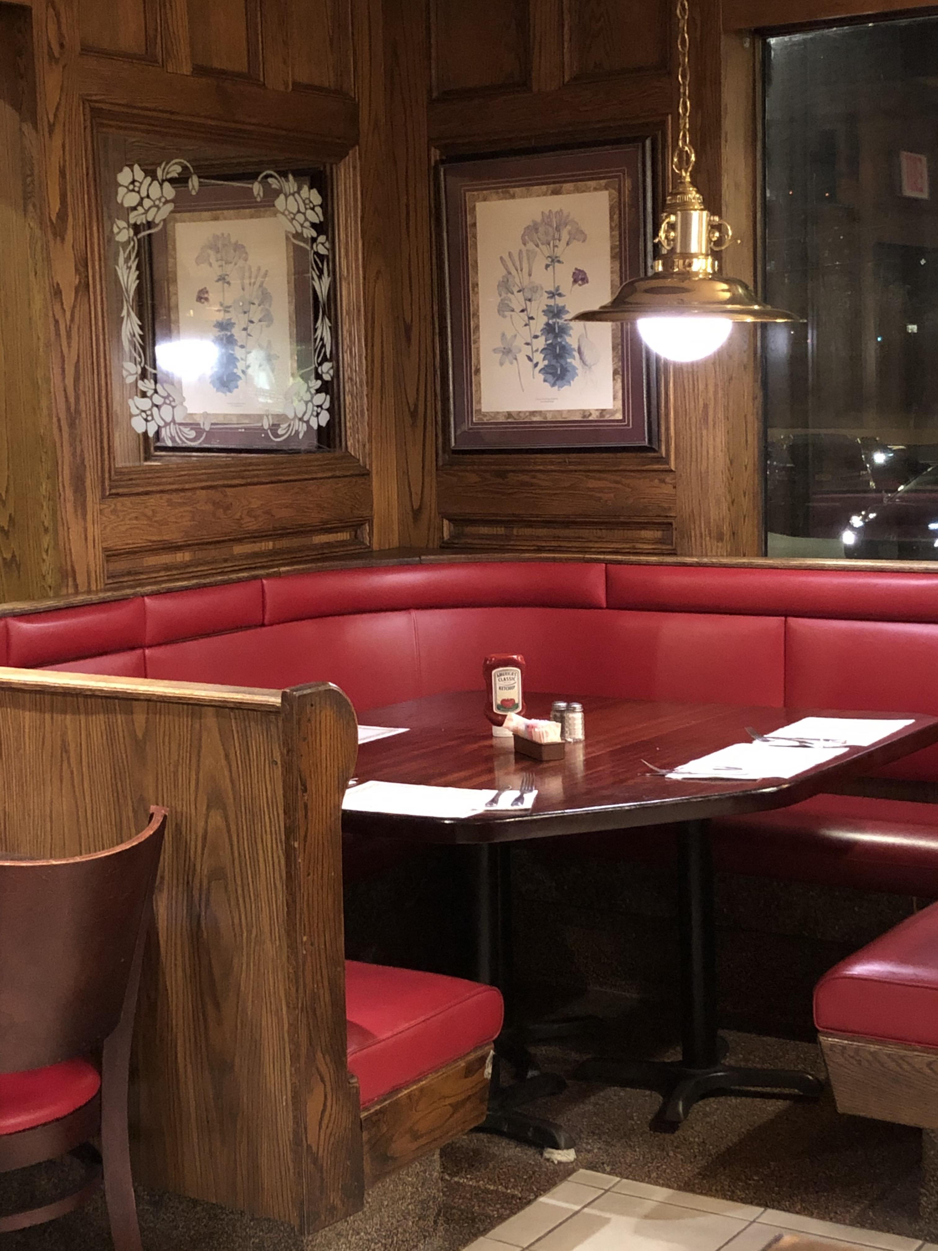 booth inside coach house diner