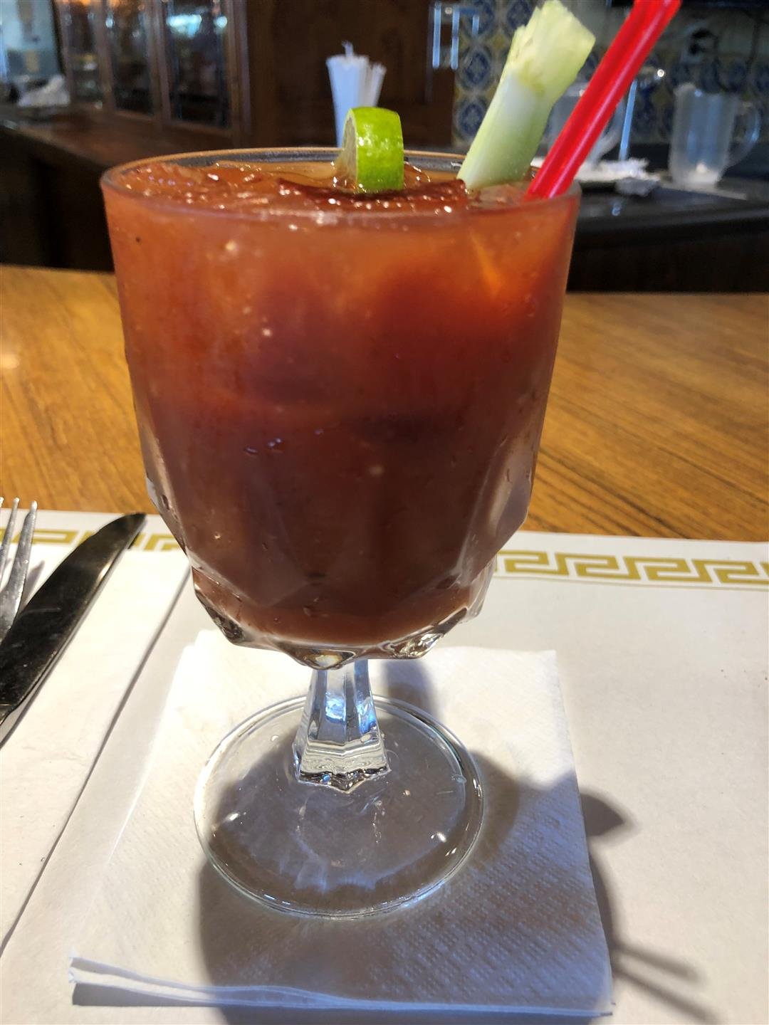 Bloody Mary on Bar