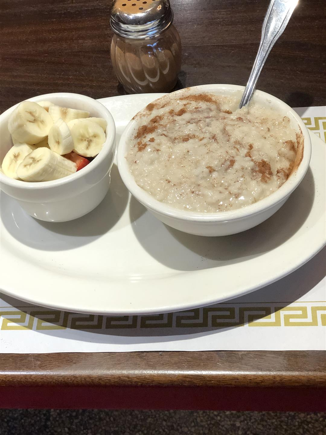 oatmeal with fruit on the side
