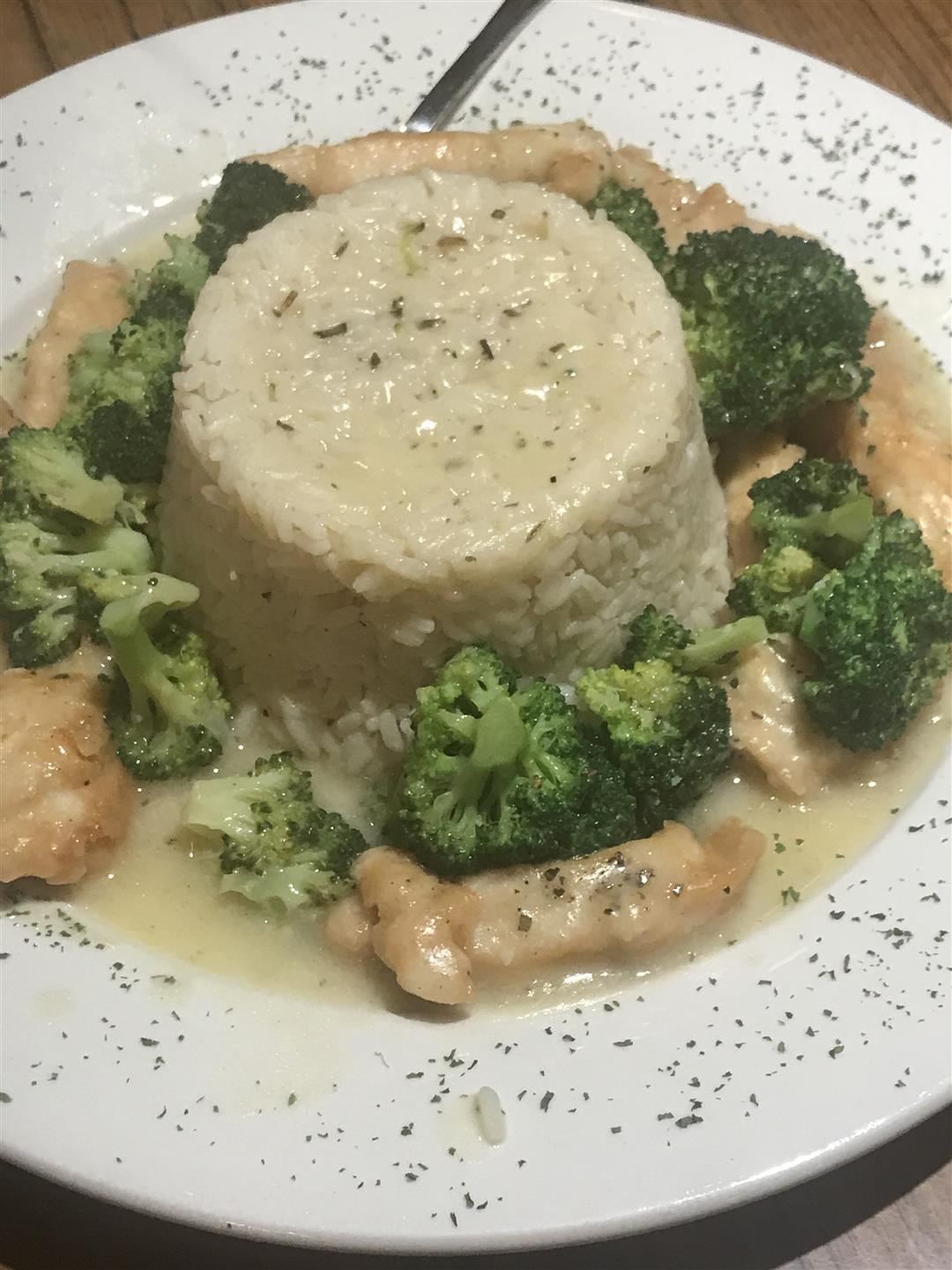 chicken and broccoli and rice