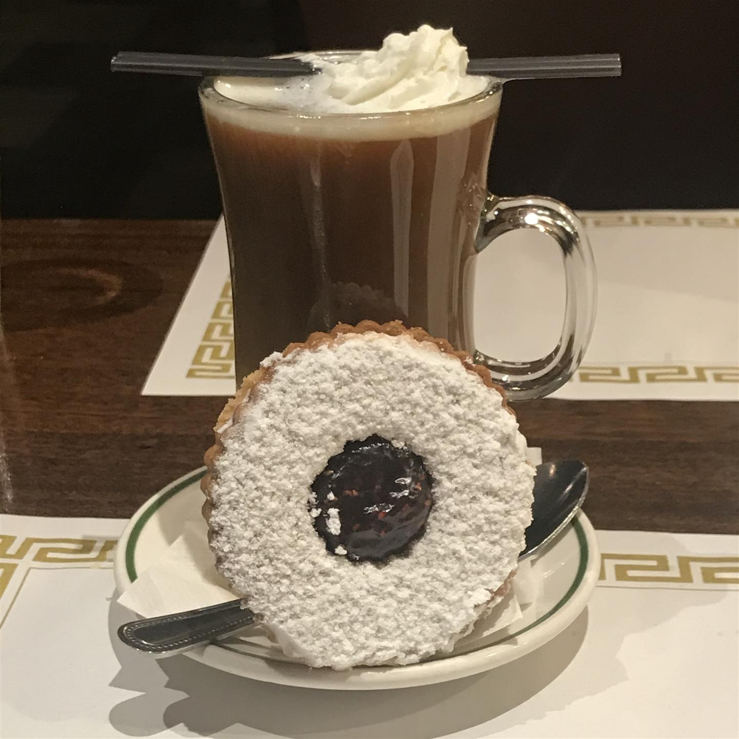 Italian Coffee with Linzer Tart Cookie
