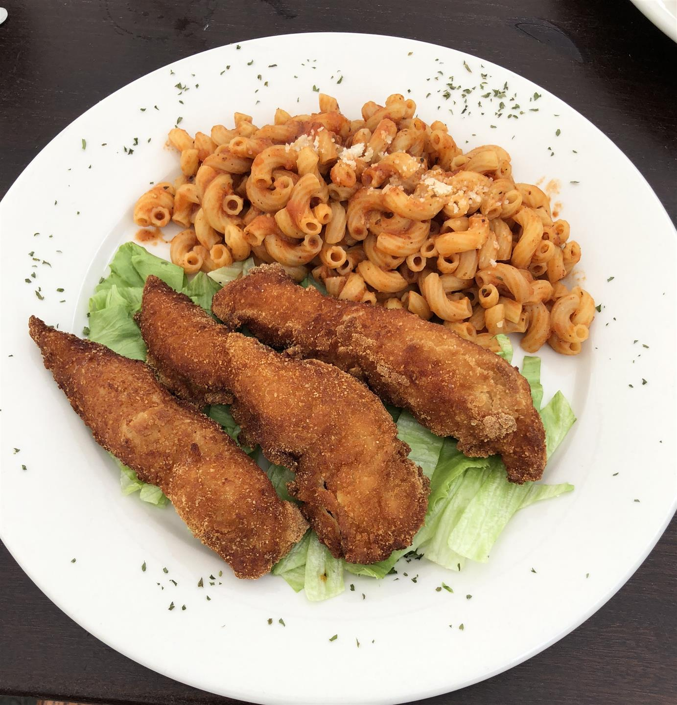 Chicken Fingers and Pasta