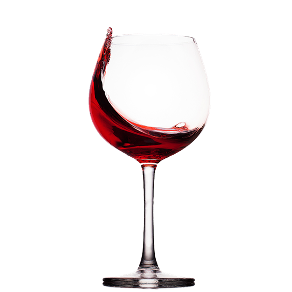 wine in a glass