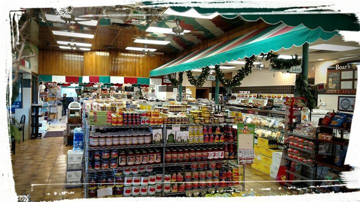Supermarket with Sauces and a deli section