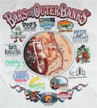 Bars of outer banks t-shirt