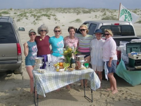 2009 OISFT Howard's Pub Pubettes Place 1st in Their Category! Standing on beach.