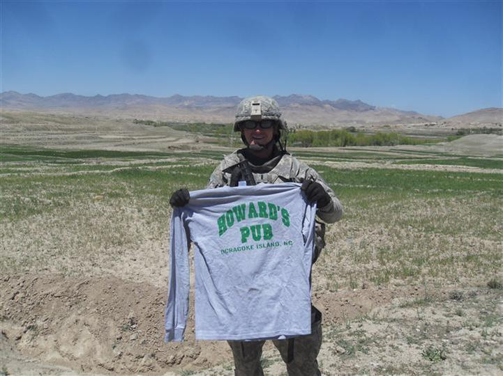"This was taken out on patrol in Kherwar District - the ""Wild West"" of our area - a day after we were blown up.  That shirt's seen a good bit of action!  I might have to retire it after this whole thing's said and done.     - Steven"