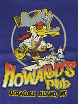 Howard's Pub seagull pirate cartoon drawing t-shirt