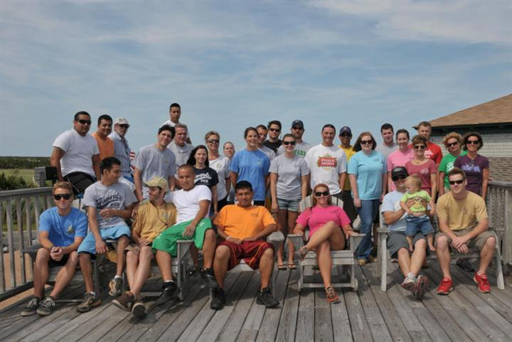 2011 Staff Photo on deck