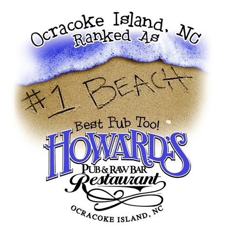 Howard's Pub & Raw Bar restaurant Ocracoke Island, NC Ranked as #1 beach best pub too t-shirt