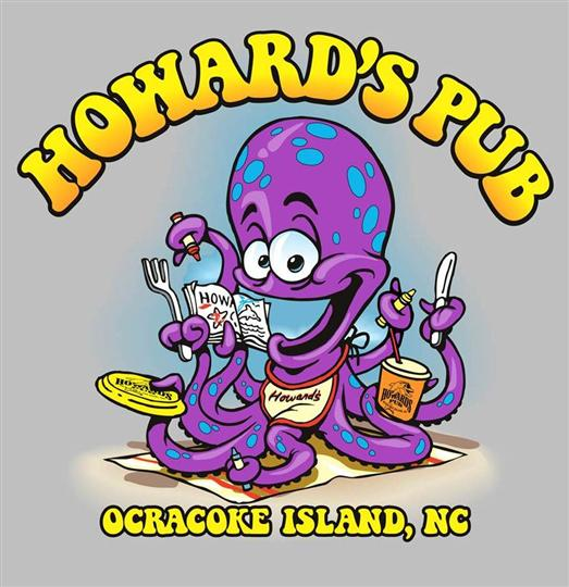 Howard's Pub Ocracoke Island, NC cartoon octopus t-shirt