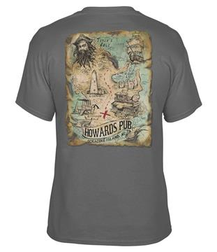Howard's Pub Ocracoke Island, NC T-shirt with treasure map