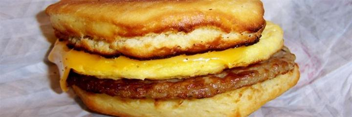 Sausage, egg, and cheese biscuit