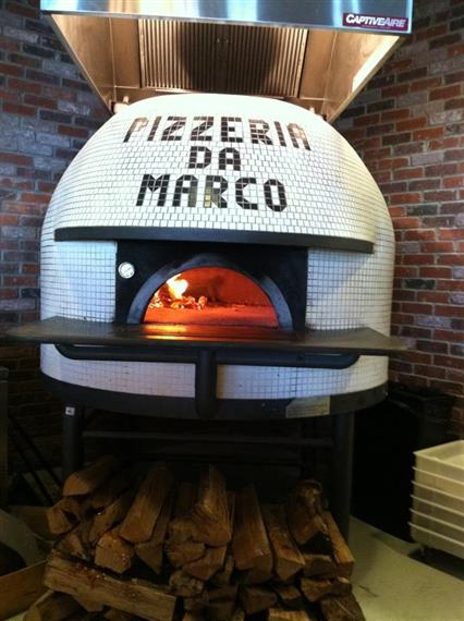 Pizzeria Da Marco tiles on their pizza oven