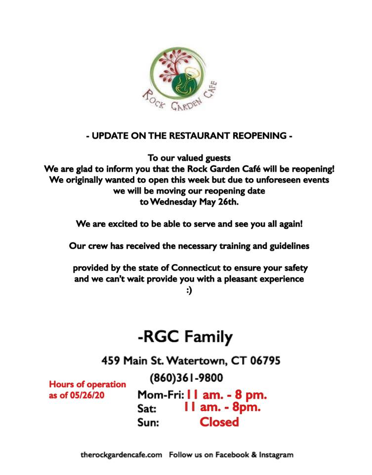 Update on the Restaurant Reopening