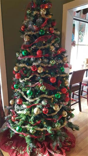 The Christmas Tree of the Rock Garden Cafe