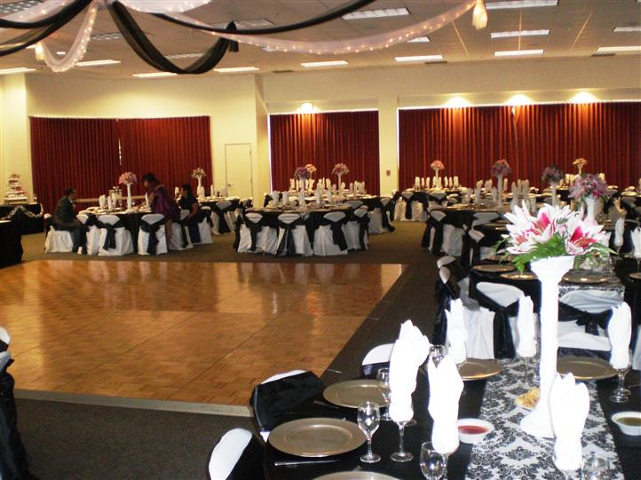 table settings with black accents